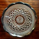 Anchor Hocking Wexford applied silver rim divided relish dish