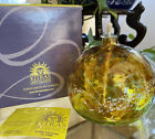 NEW In Box FLAWLESS Exquisite 4 KITRAS Van Glow Art Glass ORB OIL LAMP