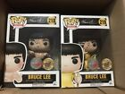 Funko pop bait exclusive custom by Rudy Ramirez signed bruce lee set