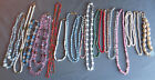 Big 17 Piece Lot Vintage Good Quality Art Glass  Semi Precious Bead Necklaces