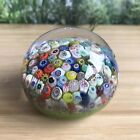 Strathearn Glass Close packed Millefiori Cane Paperweight 280g 63cm Wide