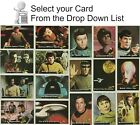1976 Star Trek TOPPS Trading Cards EX NM Your Choice of 88 Cards 22 Stickers