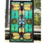 Victorian Theme Tiffany Style Stained Glass Window Panel Suncatcher 26x15