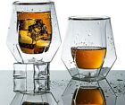 Double Old Fashioned Glasses Glassware Walled Tumbler Lowball Whiskey Bourbon 2