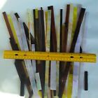 Lot of Premium Stained Glass Strips Scrap 2 lbs Assorted Colors Textures