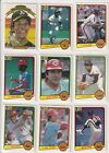 1983 Donruss Baseball Partial Set NR-MT-MT, 540 660, with 19 Hall of Famers