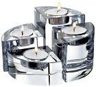 *REDUCED* 4-Piece Orrefors Heavy Crystal Quartet Candle Holders – NEW IN BOX