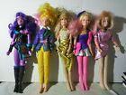 1985 Jem And The Holograms Vintage Dolls Lot Of 5 Synergy, Glitter&Gold Jerrica