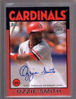 OZZIE SMITH 2021 Topps Series 1 1986 35th Anniversary Red Autograph Auto #02 10