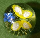 Vintage Murano Glass Butterfly Paperweight 325in tall