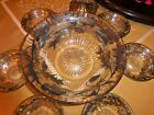 Heisey glass Sterling Silver overlay dessert berry Bowl Set of 7 Pieces AMAZING