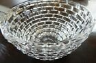 Vintage Thick  Heavy Sculptured 5LB Crystal Glass Centerpiece Decorative Bowl
