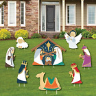 Big Dot of Happiness Holy Nativity Yard Sign and Outdoor Lawn Decorations