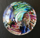 Vintage Art Glass Paperweight Rebecca Stewart 1995 Bubbles Colorful Fine Signed