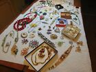 Vintage Lot of Higher End Art Glass all Wearable Costume Rhinestone Lot