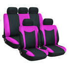 9pcs 5 Seater Car Suv Seat Cover Protector Cushion Front Rear Full Set Univesal