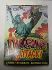 Vintage Topps Dinosaurs Attack Unopened Wax Pack Box