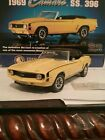 FRANKLIN MINT 1969 Camaro SS 396 124 scale YELLOW with ORIGINAL BOX