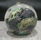 Fantastic Signed Josh Simpson 3 Planet Art Glass Paperweight