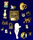 Vintage Modern Cat Kitten Kitty Brooch Pin Lot JJ Jonette Artifacts MAS Made UK