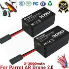 2x Replacement Battery For Parrot AR Drone 20 111V 3000mAh LiPO Battery New