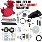 80CC 2 Stroke Bike Bicycle Moped Scooter Kit Red Full Gas Motor Motorized Engine
