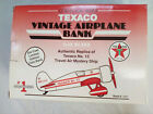 Texaco Collector Series Vntg Airplane Die Cast Coin Bank