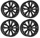 4 AEZ Leipzig black Wheels 95Jx22 5x112 for BMW X5 X6