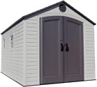 Garden Storage Shed For Outdoor 8 x 125 Feet Weather Resistant With Windows New