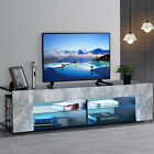 57 LED TV Stand Unit Console with Side Cabinet Entertainment Center for 65 TV