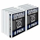 Samsill S88430 3 Ring Durable View Binders - Assorted Styles Sizes Colors