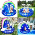 Inflatable Splash Kiddie Pool Summer Toys For Baby Shade Sprinkler Pool Baby Fl