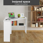 L Shaped Corner Desk Chipboard PC Computer Writing Study Table Home White