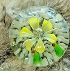 Frogs Looking at Yellow Flower Paperweight shipped Priority Mail