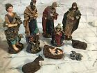 Vintage Nativity Scene Figurines Figures Set of 10 Resin Christmas Decor
