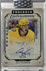 Eeli Tolvanen 2018-19 Upper Deck Clear Cut RC Rookie Auto 98 99 Embedded Canvas