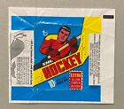 1969-70 Topps Hockey 10 Cent Wax Pack Wrapper Whales Tooth Side Panel
