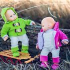 15 Inch Baby Doll Clothes SET OF 2 COMPLETE OUTFITS PINK  GREEN Fit Bitty Twins
