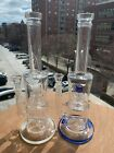 12 Beautiful and Heavy Glass Water Pipe Bong Bubbler Hookah With Glass Bowl