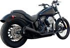 FireBrand Black Fifty Two52 2 Into 1 Full Exhaust For Harley Softails 86 16