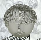 Modernist Clear Frosted Art Glass Two Faced Head Sculpture Paperweight CAG 82