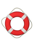 Life Saver Foam Ring Webbing Straps White 15 Float Approved Ship Pool Buoy Boat