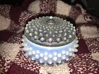 Fenton Glass OPALESCENT FRENCH HOBNAIL COVERED POWDER JAR