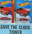 hot wheels 2013 red delorean number 10 red back to the future