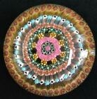 Baccarat Concentric Millefiori Paperweight 1969 Large Glass Crystal