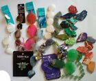 10 + Strand Lot Assorted New Used Stone Glass Turquoise Agate Silver Beads