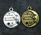 bulk 300p hidden silver star moon combination charm is suitable for DIY jewelry