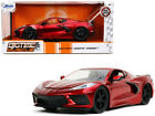 2020 Chevrolet Corvette Stingray C8 Candy Red Bigtime Muscle 1 24 Diecast Car
