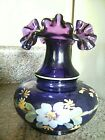 FENTON H P ROYAL PURPLE ARTIST SIGNED BY MYOUNG VASE