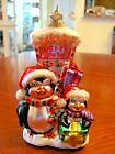 'SPARKLE BRIGHT' BY CHRISTOPHER RADKO CHRISTMAS PENQUINS  MOUTH BLOWN ORNAMENT